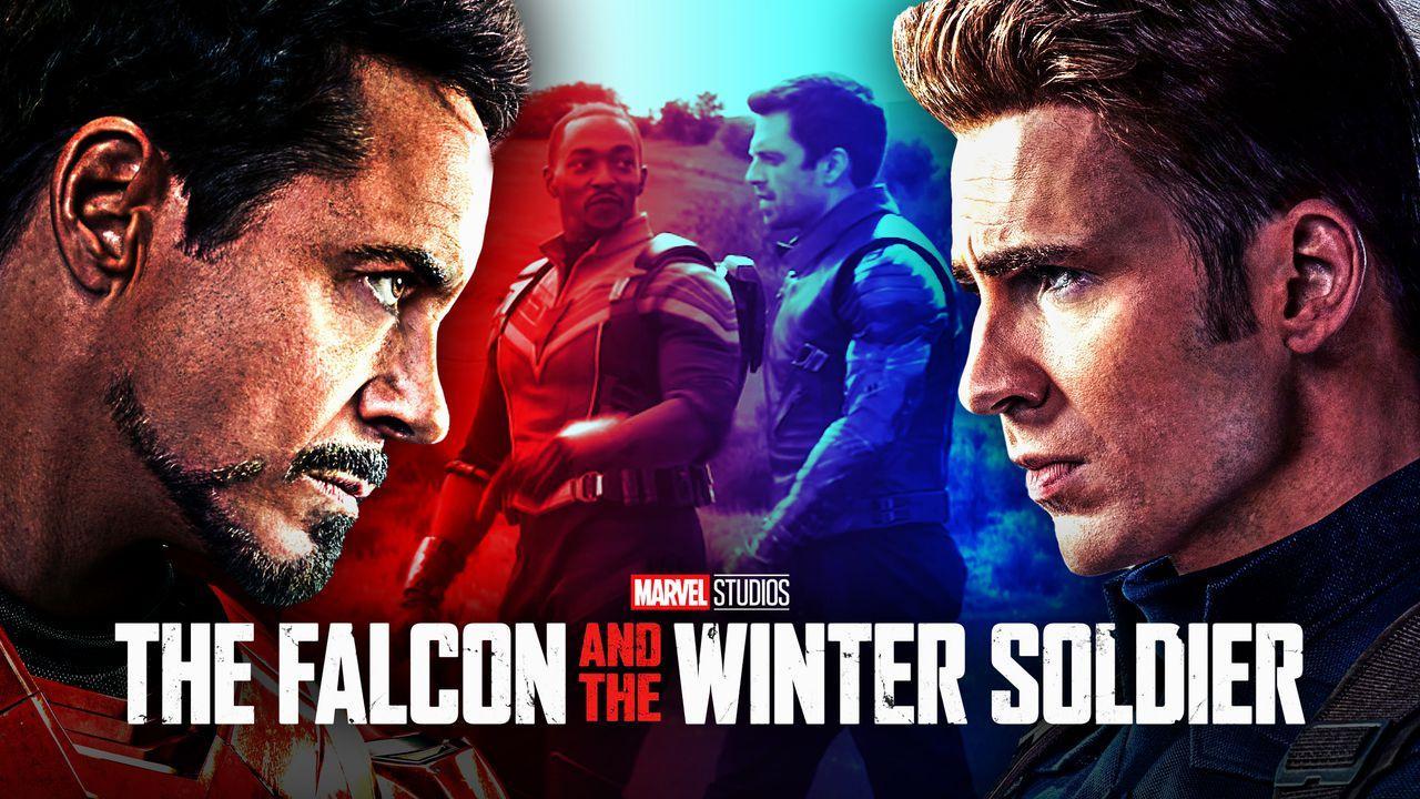 Captain America, Iron Man, Falcon, Bucky