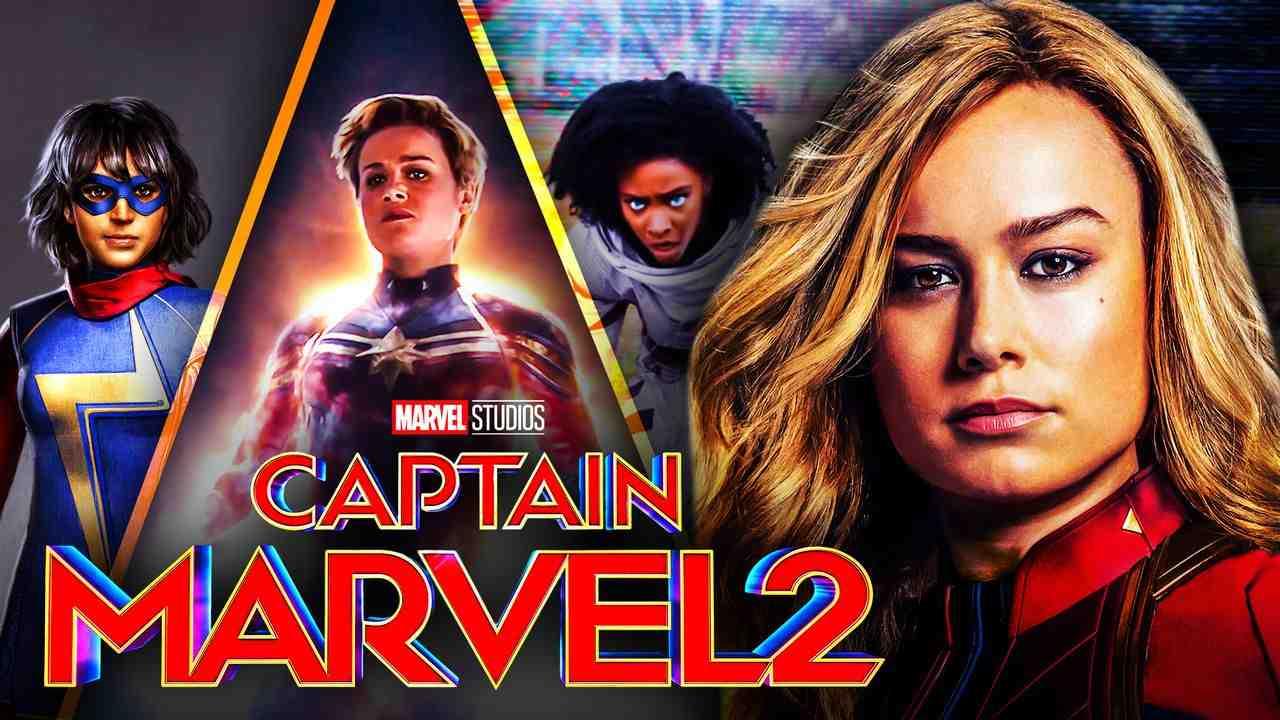 Captain Marvel 2 Logo with Monica Rambeau and Ms Marvel