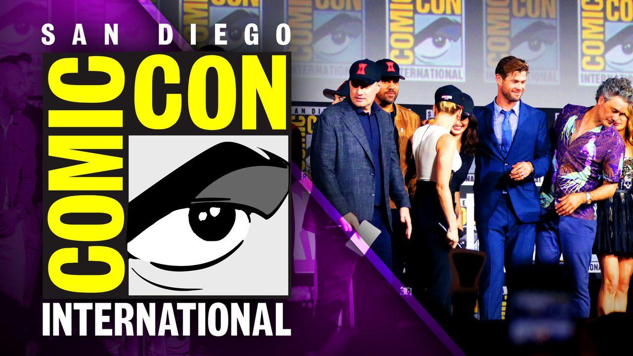Comic Con logo Marvel Studios panel