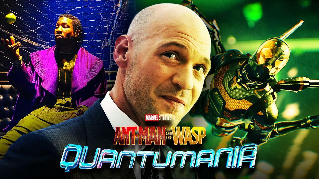 Corey Stoll as Darren Cross, Jonathan Majors as He Who Remains, Quantumania logo