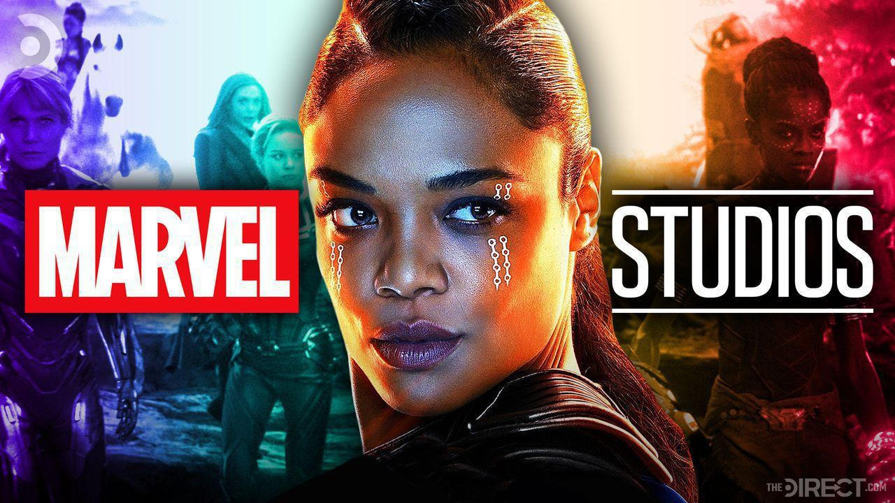 Valkyrie, Marvel Studios Logo, and A-Force Team in Rainbow Color