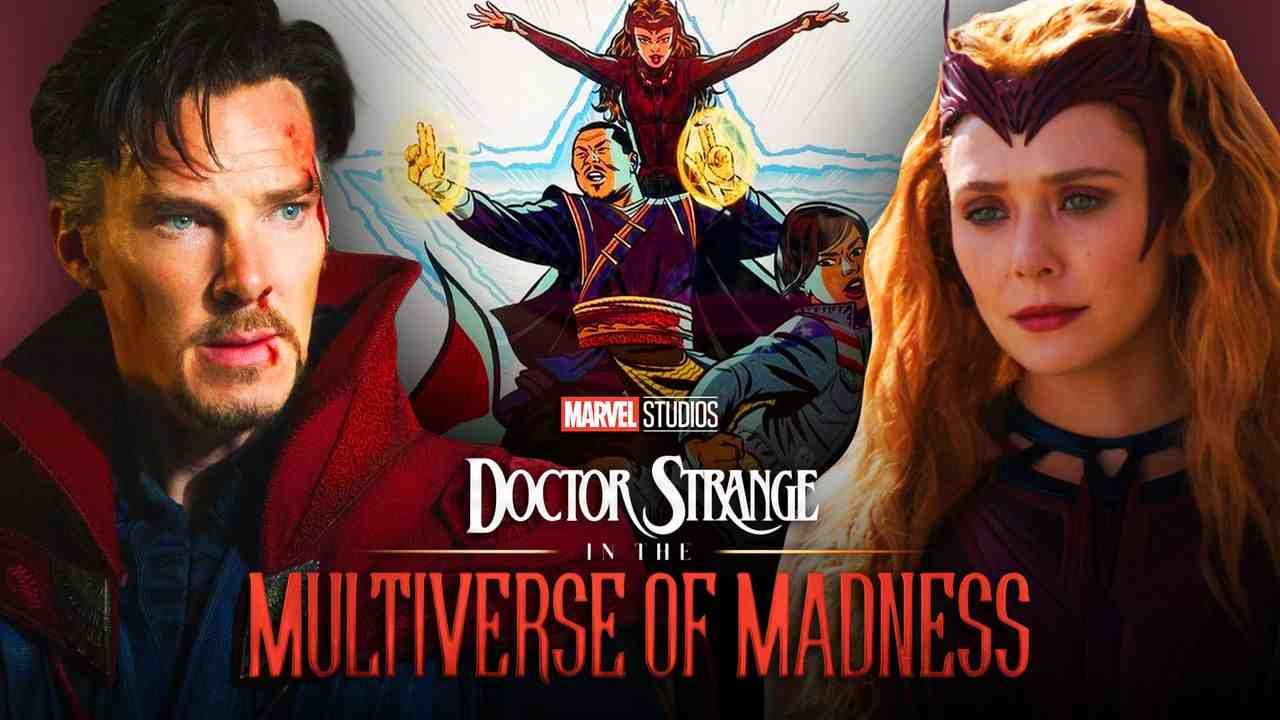 Doctor Strange in the Multiverse of Madness logo,  Scarlet Witch, Elizabeth Olsen