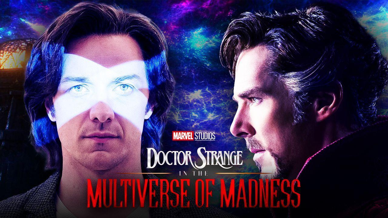 James McAvoy as Charles Xavier, Doctor Strange 2 logo, Benedict Cumberbatch as Doctor Strange