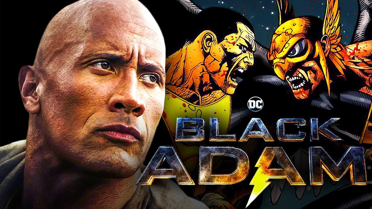 Dwayne Johnson, Black Adam and Hawkman