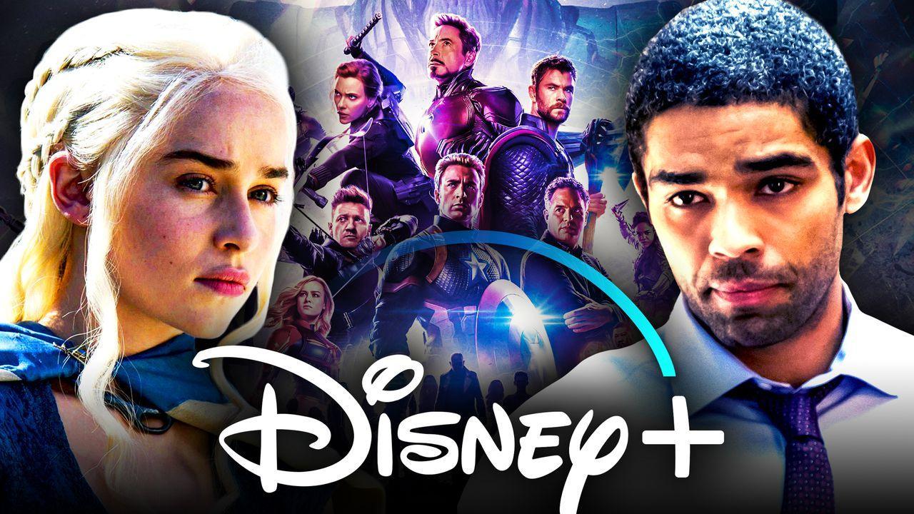 Marvel, Emilia Clarke, Avengers, Disney Plus logo, Kingsley Ben Adir