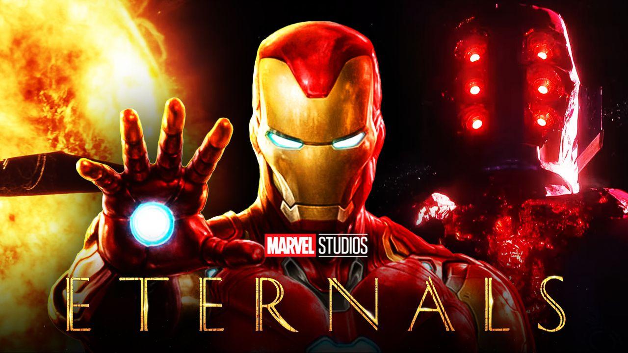 Eternals logo, Iron Man, Celestials