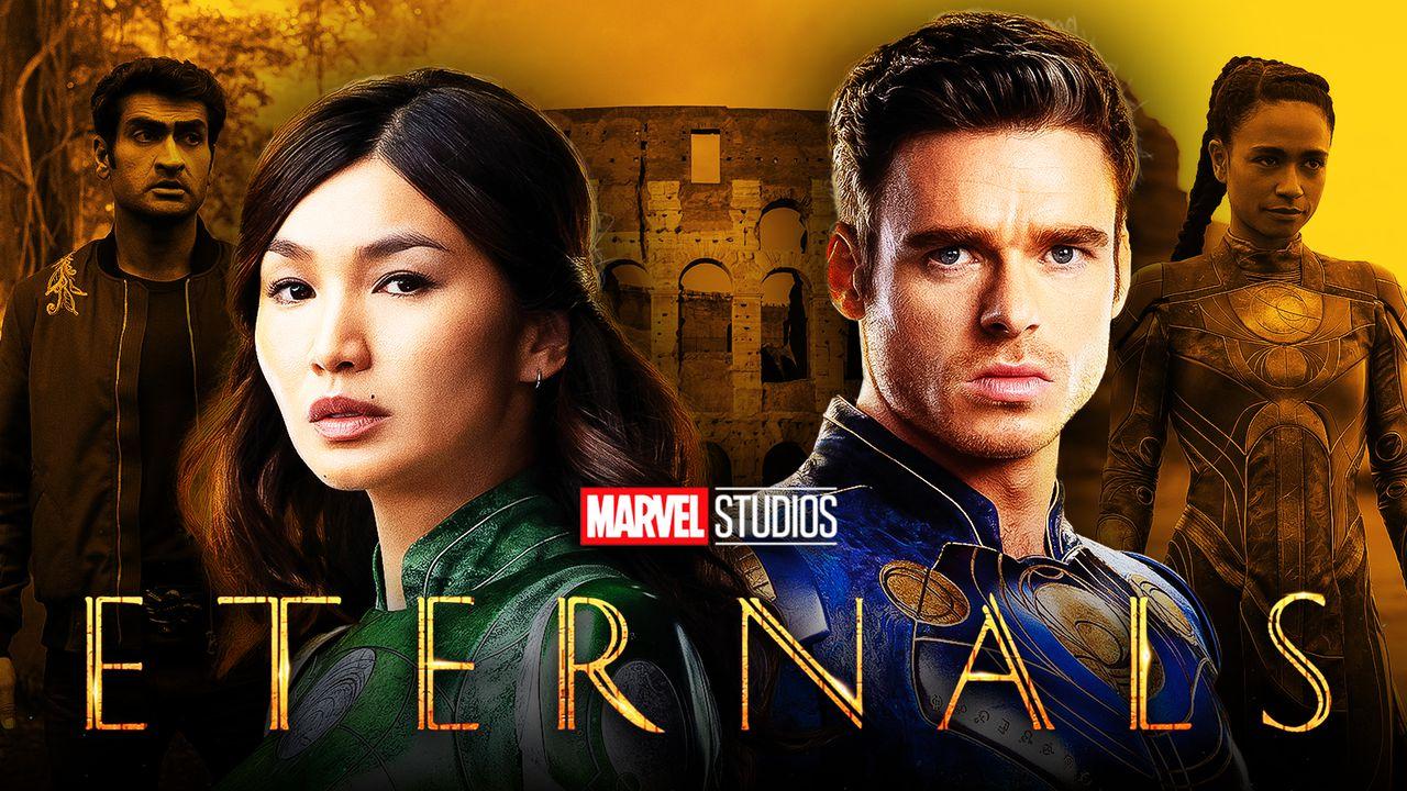 Eternals, Richard Madden as Ikaris, Gemma Chan as Sersi