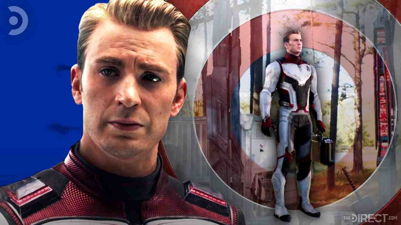 Captain America in Time Travel Suit