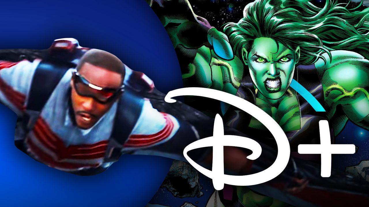 Falcon, She-Hulk, Disney+ Logo
