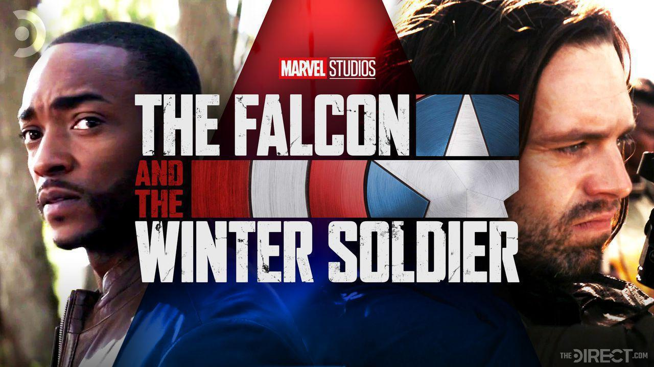 Anthony Mackie as Falcon, The Falcon and The Winter Soldier Logo, Sebastian Stan as Winter Soldier