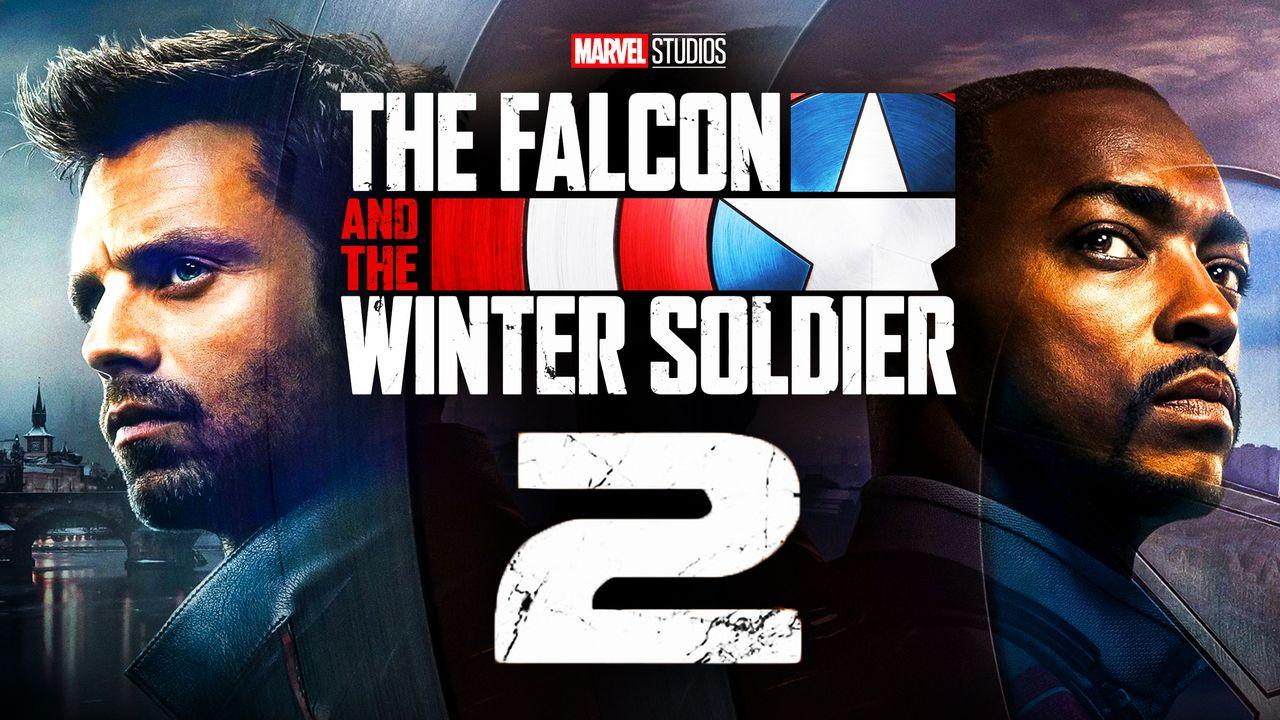 The Falcon and the Winter Soldier logo, Anthony Mackie as Sam Wilson, Sebastian Stan as Bucky Barnes