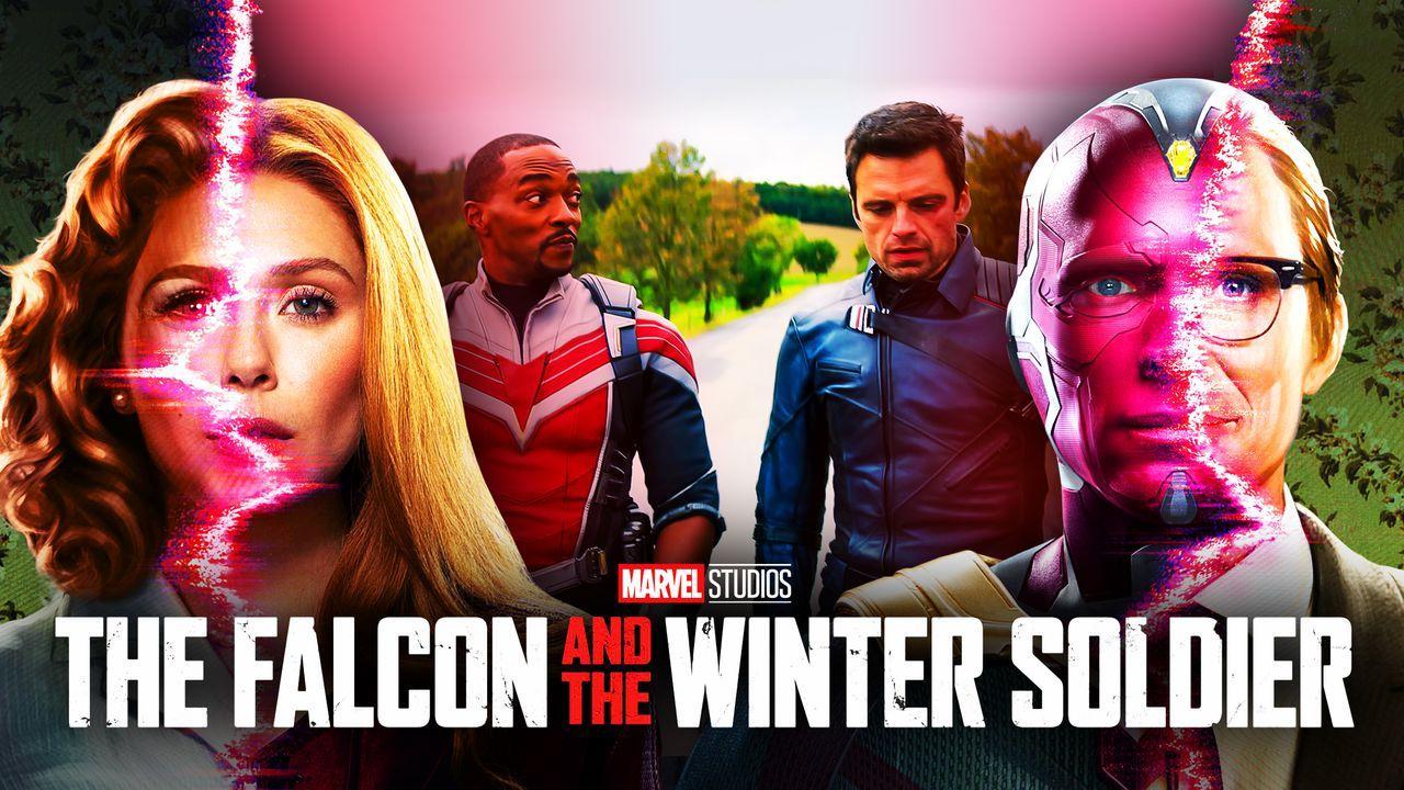 WandaVision Poster, The Falcon and the Winter Soldier Scene