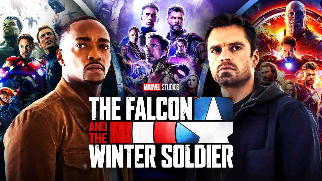 Falcon and Winter Soldier Avengers Endgame, Infinity War, Age of Ultron