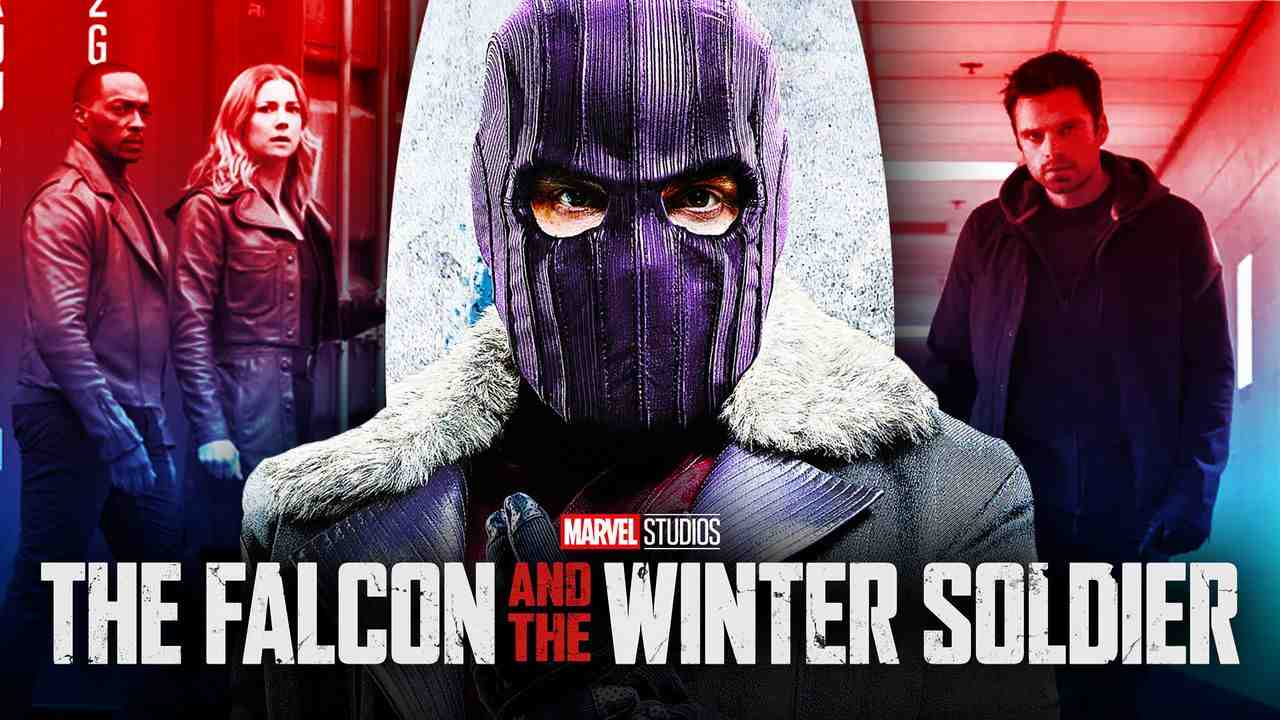 Zemo with Falcon and Sharon Carter with Winter Soldier