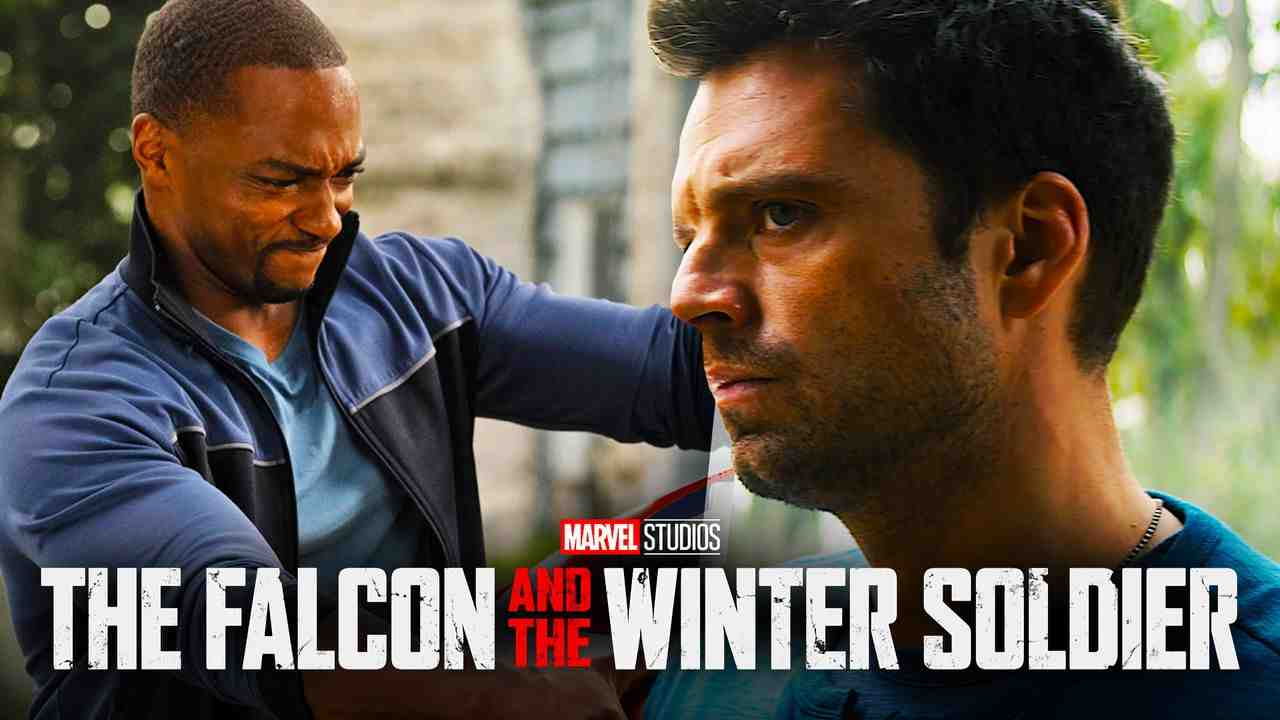 Falcon with Captain America Shield and Bucky