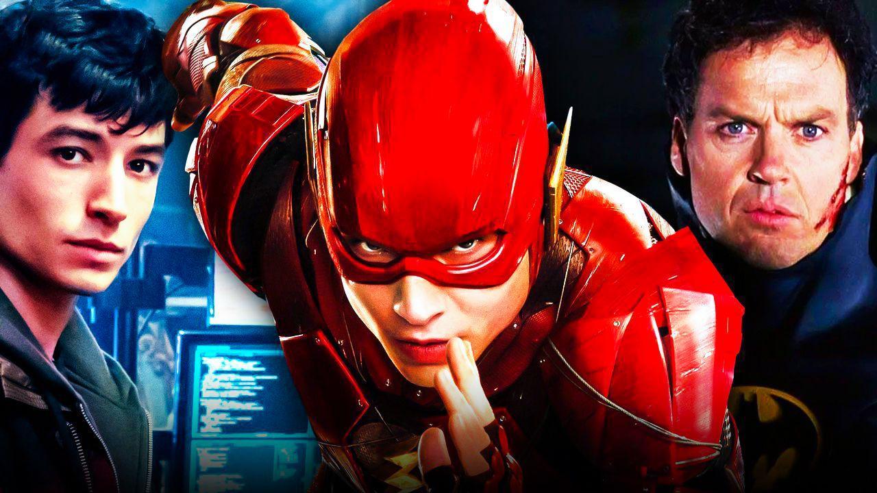Flash, Ezra Miller, Michael Keaton Batman