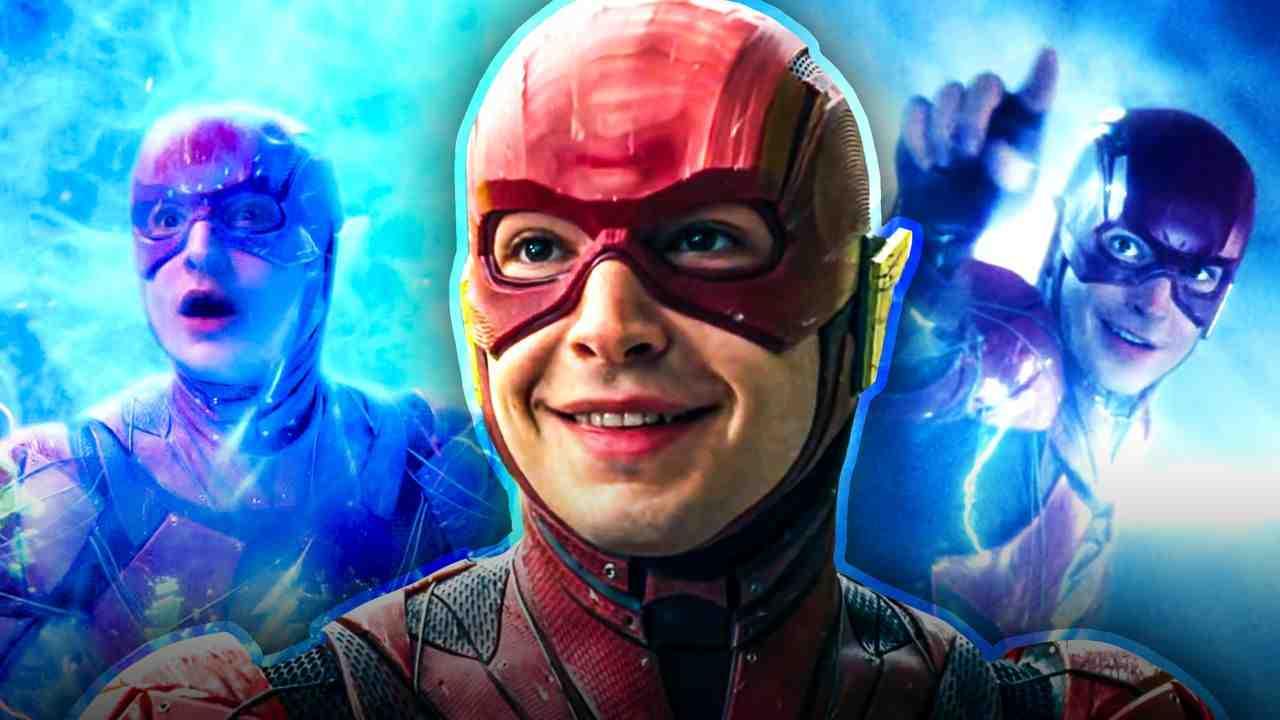 The Flash, Barry Allen, blue background