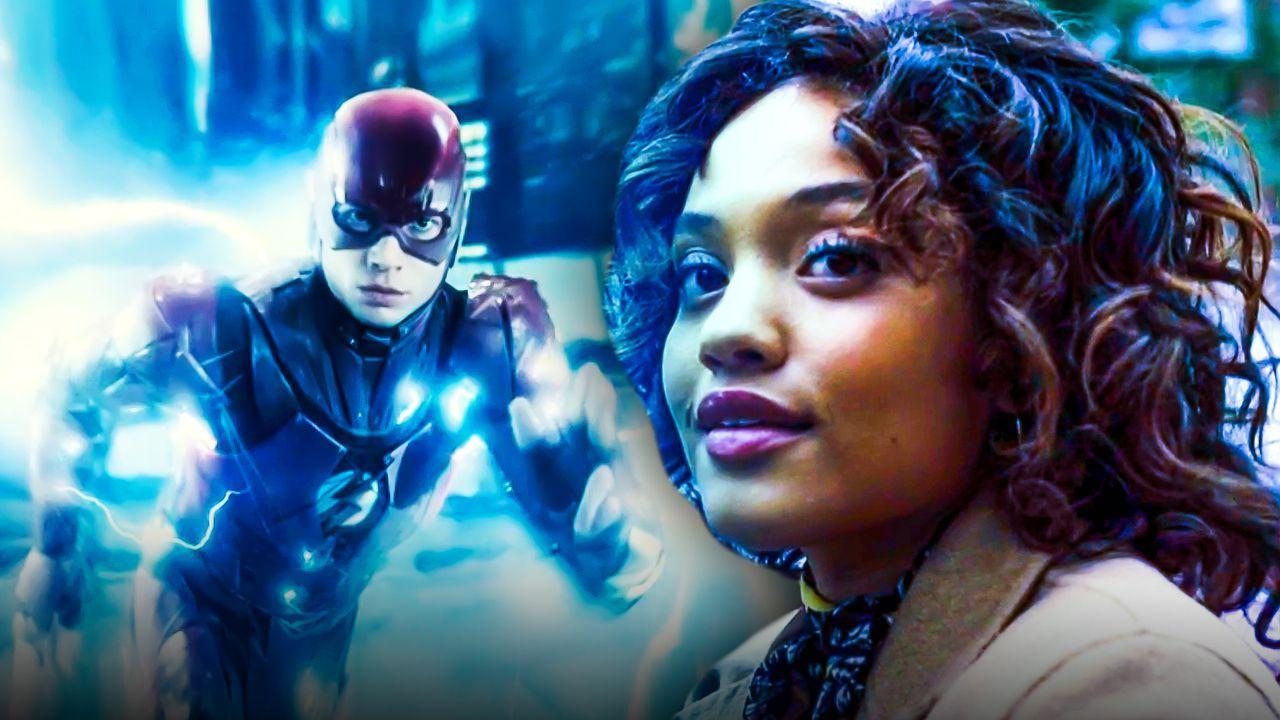 Kiersey Clemons as Iris West, Ezra Miller as Barry Allen