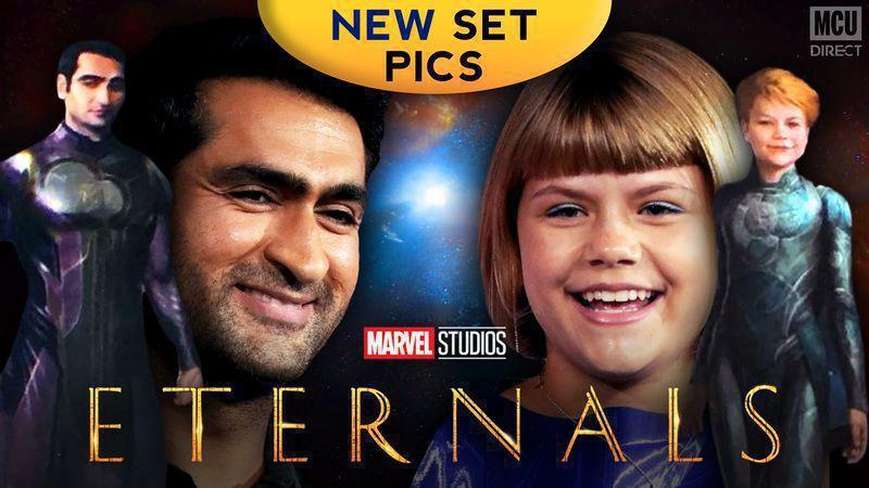 The Eternals Kumail Nanjiani as Kingo and Lia McHugh as Sprite