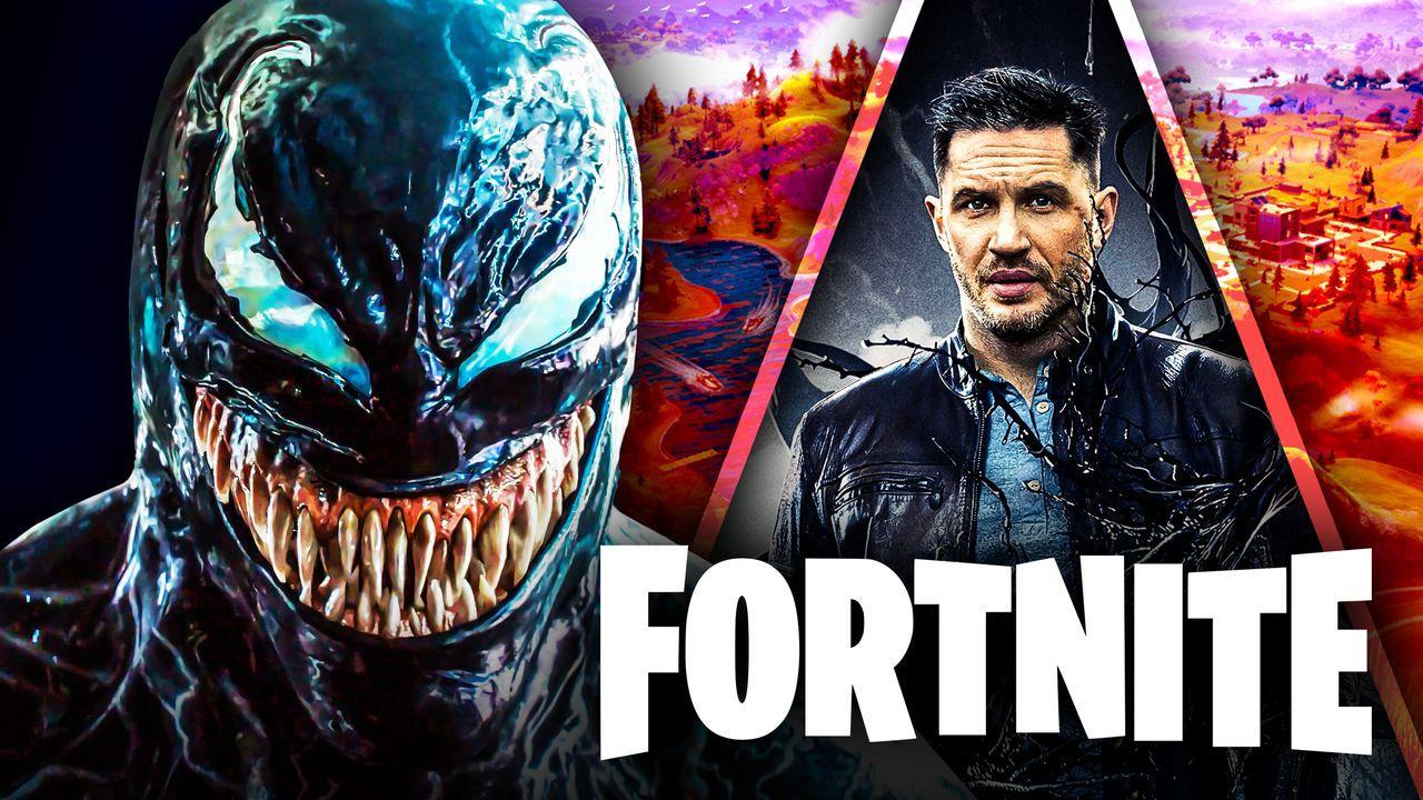 Venom, Tom Hardy, Fortnite logo