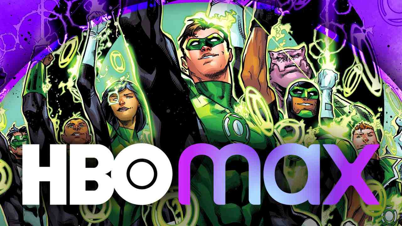Green Lantern Corps. with HBO Max logo in foreground