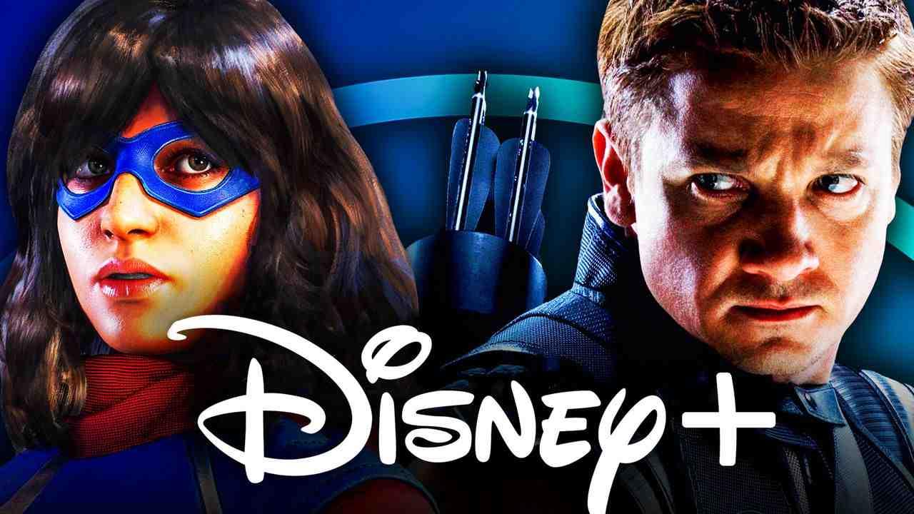 Ms. Marvel, Hawkeye, Disney+ logo