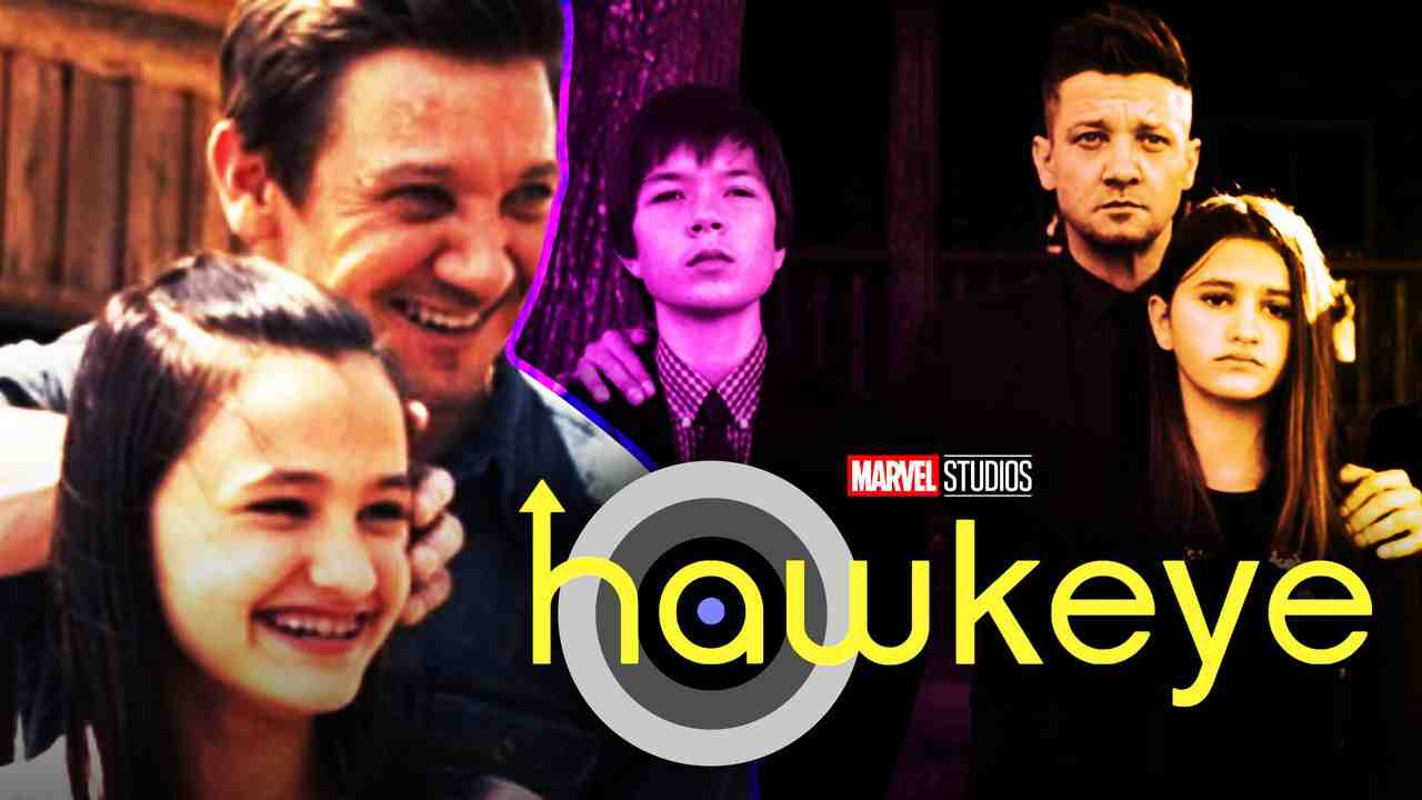 Jeremy Renner's Hawkeye with the Barton family