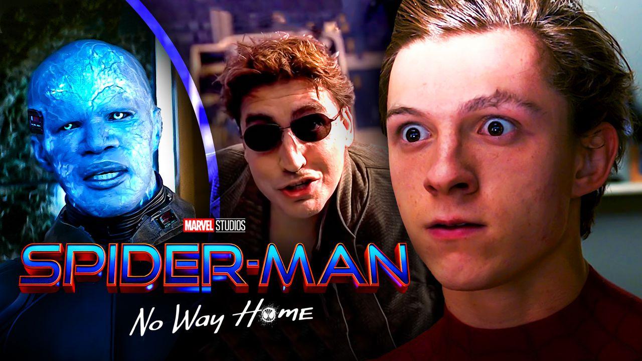 Spider-Man, Electro, and Doc-Ock, Spider-Man: No Way Home logo