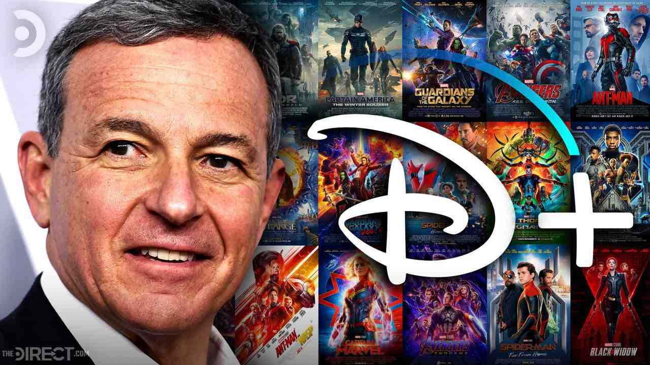 Bob Iger, Disney+ Logo, MCU Movie Posters