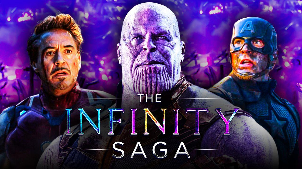 Thanos Captain America Iron Man Infinity Saga
