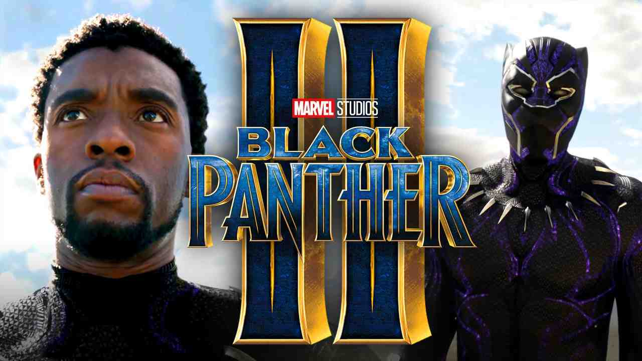 Chadwick Boseman as Black Panther, Black Panther 2 title logo
