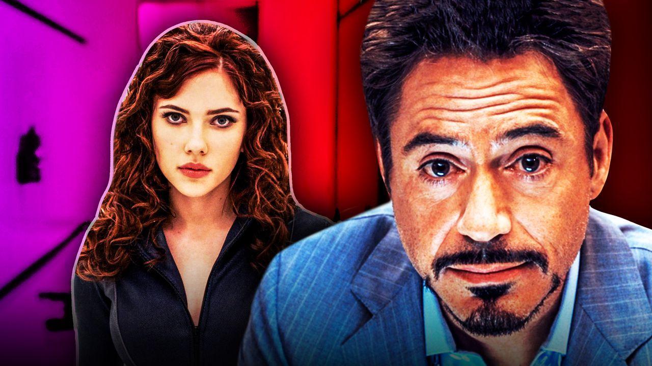 Robert Downey Jr Iron Man Scarlet Johansson Black Widow