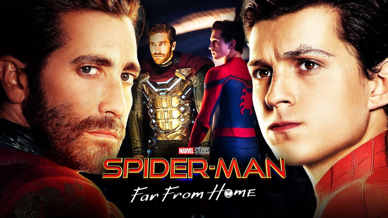 Mysterio, Jake Gyllenhaal, Spider-Man, Tom Holland, Spider-Man: Far From Home