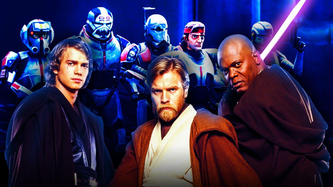 Star Wars Anakin Obi-Wan Kenobi Mace Windu The Bad Batch