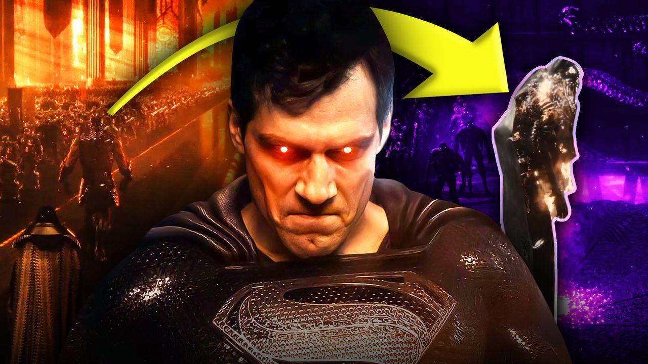Black Suit Superman in Justice League Easter Eggs