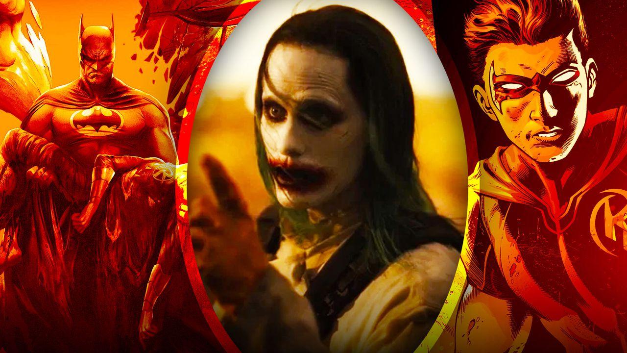 Jared Leto Joker with Robin and Batman