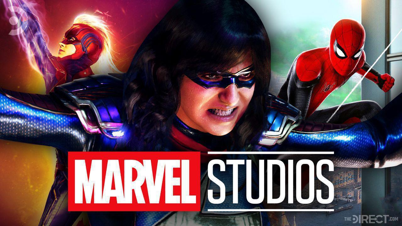 Captain Marvel, Ms Marvel, Spider-Man, Marvel Studios Logo