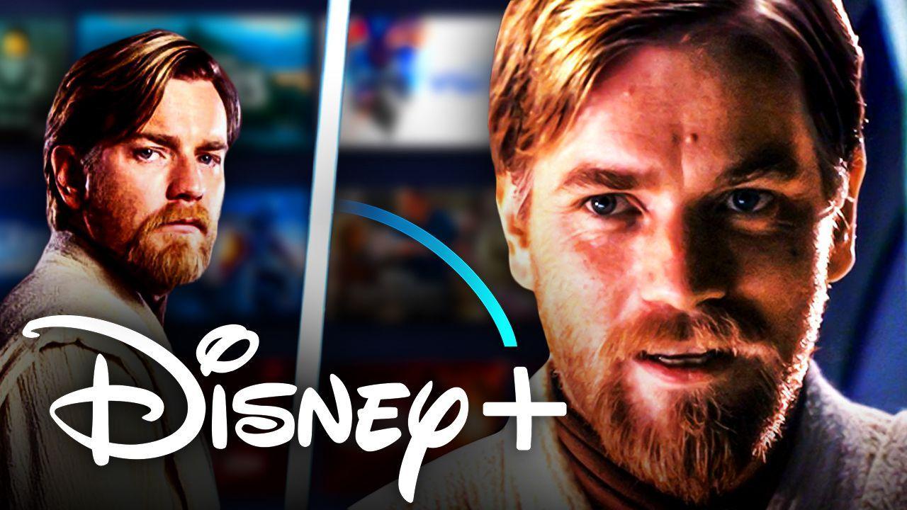 Disney+ logo, Ewan McGregor as Obi-Wan Kenobi