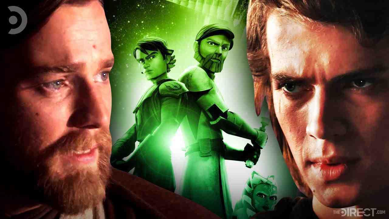 Obi Wan Kenobi, Anakin Skywalker, The Clone Wars poster