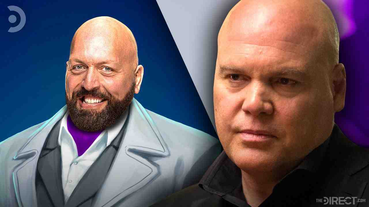 The Big Show as The Kingpin next to Vincent D'Onofrio's Kingpin.