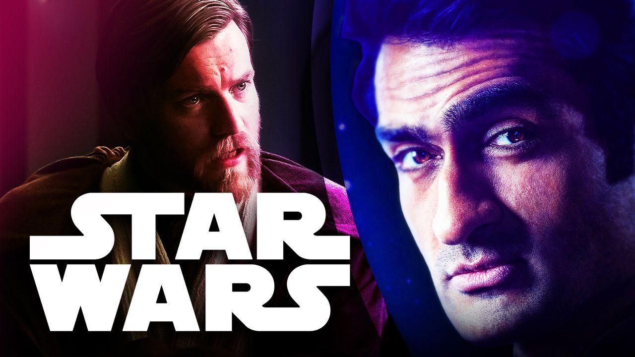 Kumail Nanjiani, Ewan McGregor as Obi-Wan Kenobi, Star Wars logo