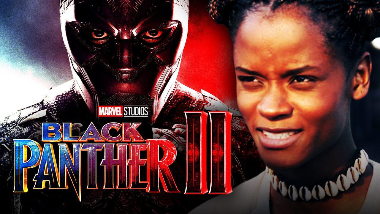 Letitia Wright as Shuri, Black Panther 2 logo, Chadwick Boseman as Black Panther
