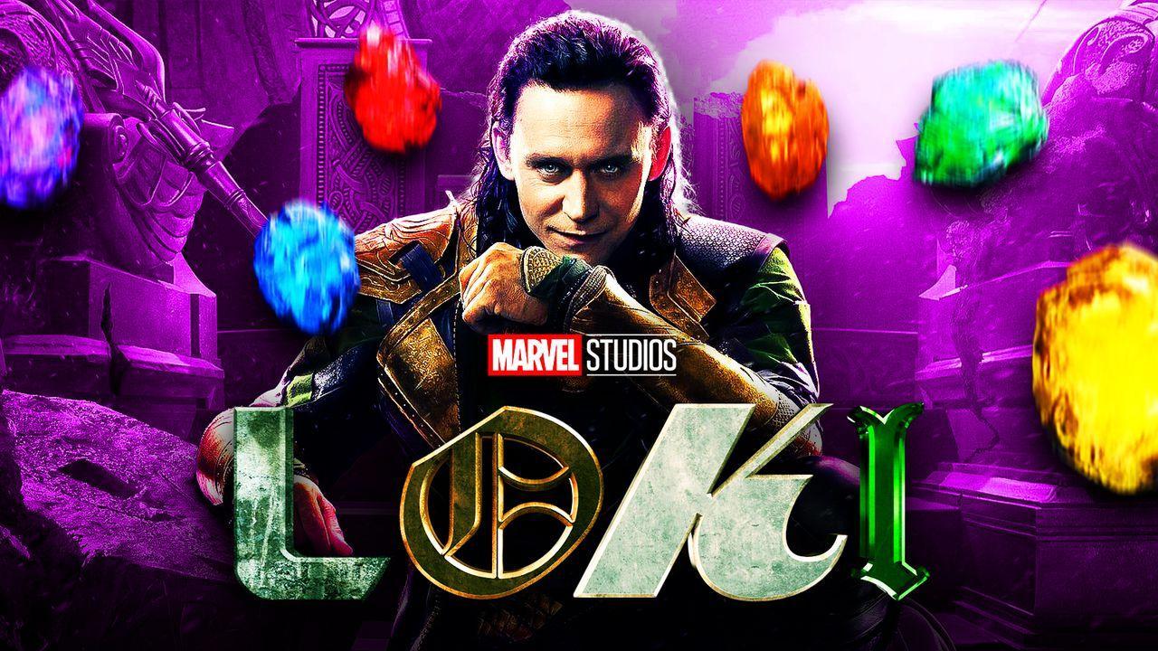 Tom Hiddleston as Loki, Loki logo, Infinity Stones