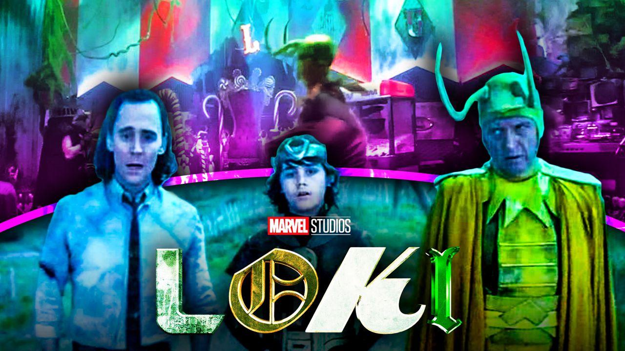 Kid Loki Tom Hiddleston, Richard Grant Classic Loki, Loki logo