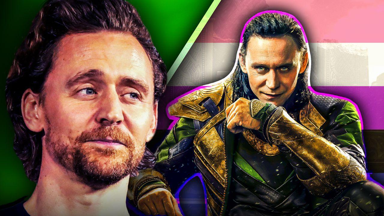 Tom Hiddleston with Loki