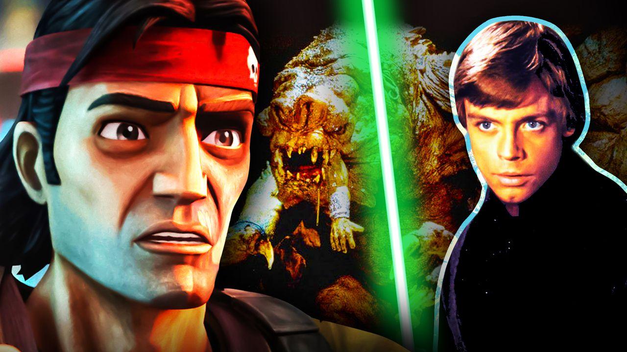 Luke Skywalker Bad Batch Rancor