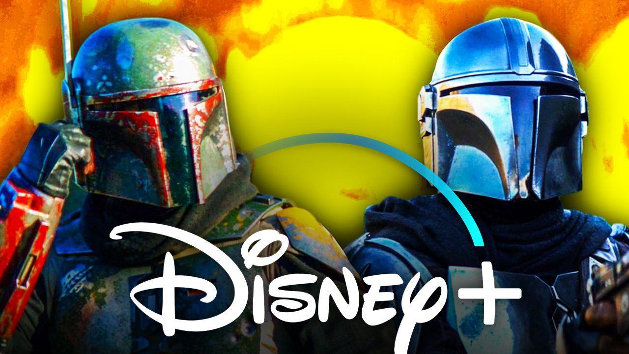 Mandalorian Boba Fett Disney Plus logo