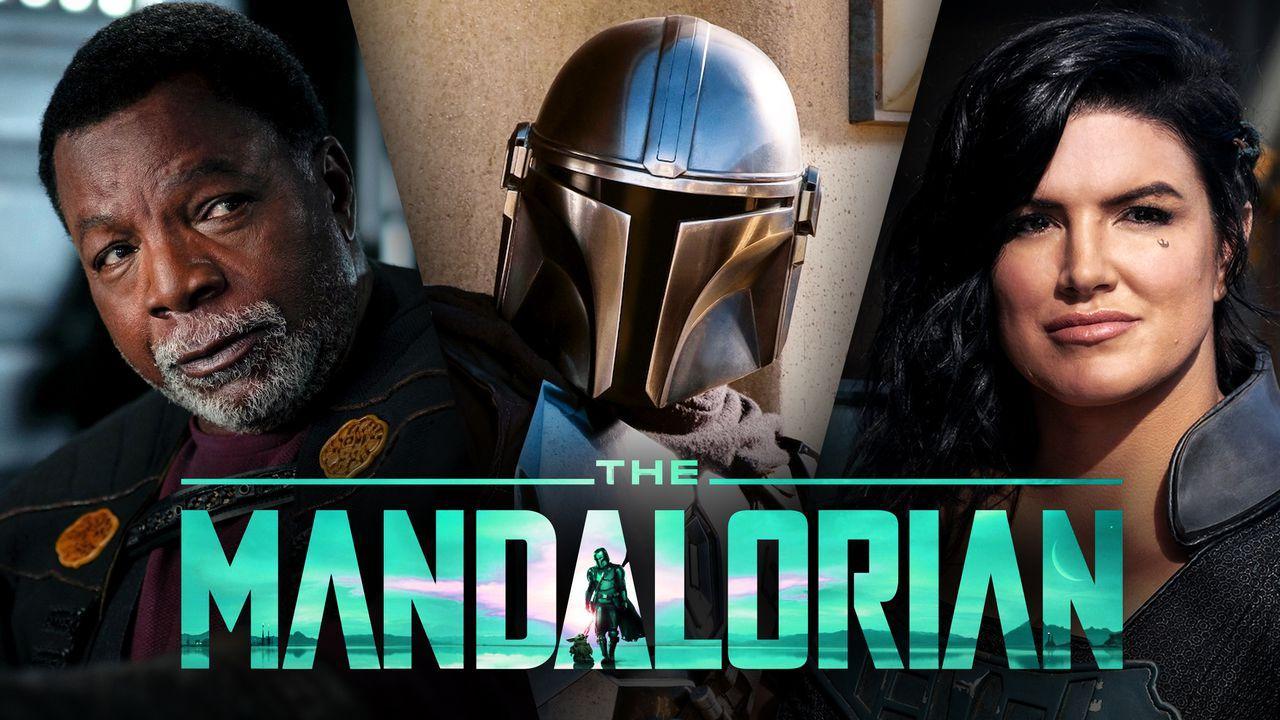 Carl Weathers as Greef Karga, The Mandalorian and Gina Carano as Cara Dune