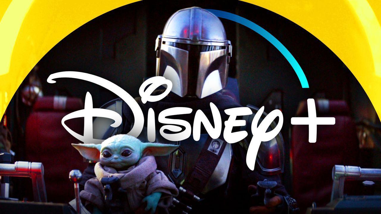 The Mandalorian Baby Yoda Disney+ Logo