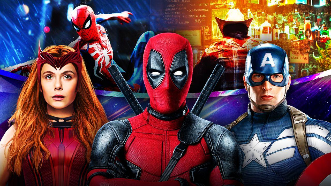 Marvel Video Games Deadpool Captain America Scarlet Witch